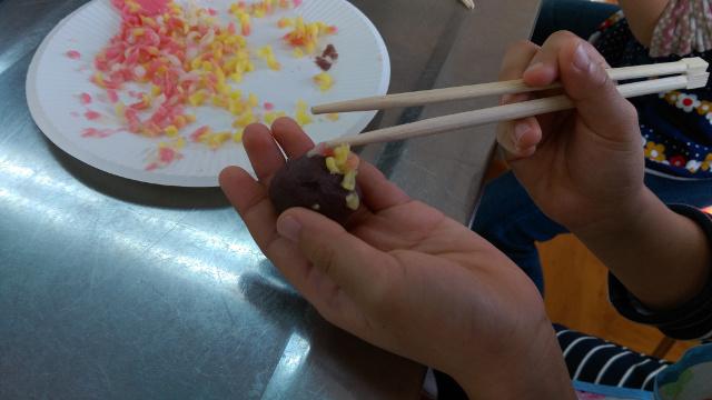 和菓子教室・実技1